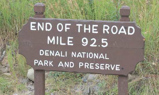 End of the Road - Mile 92.5 at Denali National Park