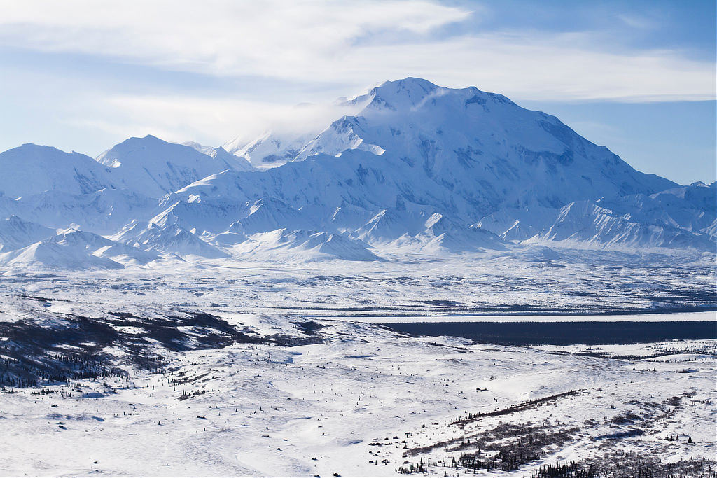 Denali National Park and Preserve in winter