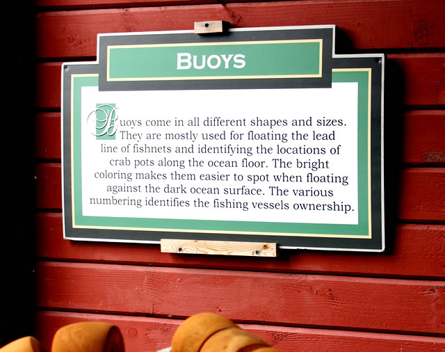 All about buoys ... at the Icy Strait Museum in Hoonah, Alaska