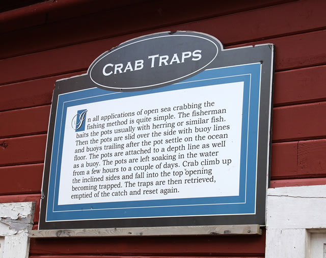 All about crab traps ... at the Icy Strait Museum in Hoonah, Alaska