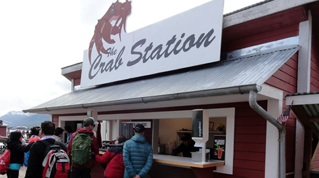 Crab Station on the pier at Icy Strait Point