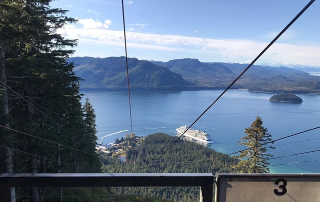 View from the top of the ZipRider in Hoonah
