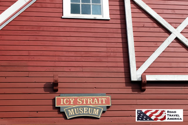Outside the Icy Strait Museum