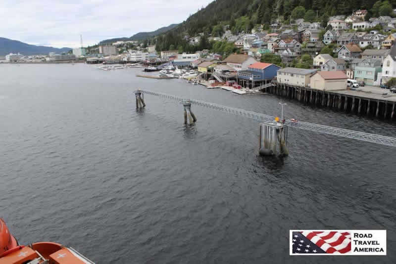 Port of Juneau seen from a docking cruise ship
