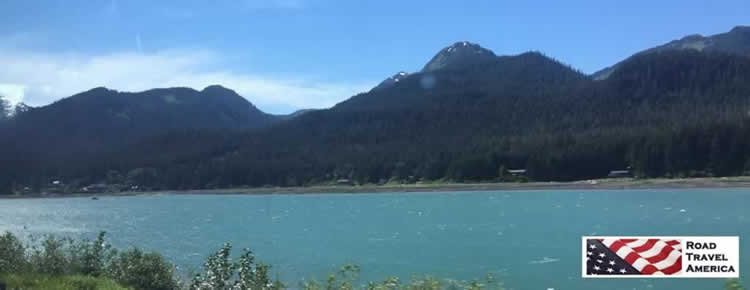 The Gastineau Channel just north of Juneau