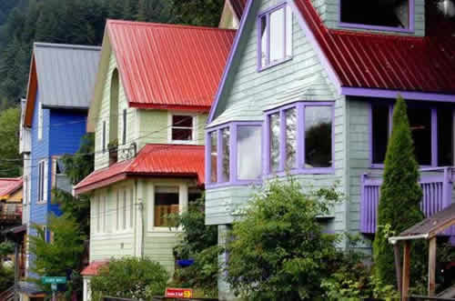 Homes near downtown Juneau