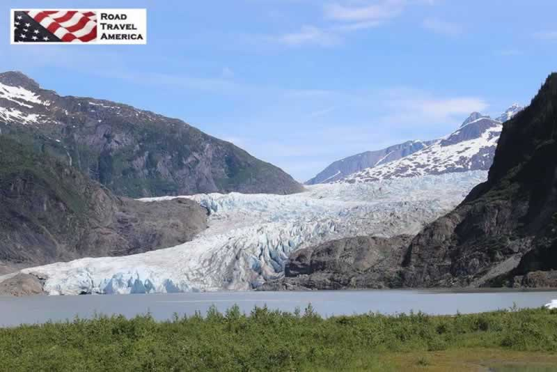 Mendenhall Glacier in early summer