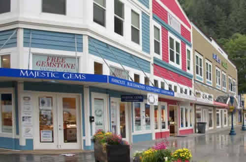 Shopping in downtown Juneau, Alaska
