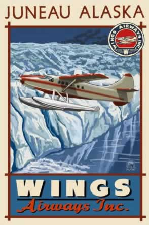 Wings Airways Inc ... poster in Juneau, Alaska