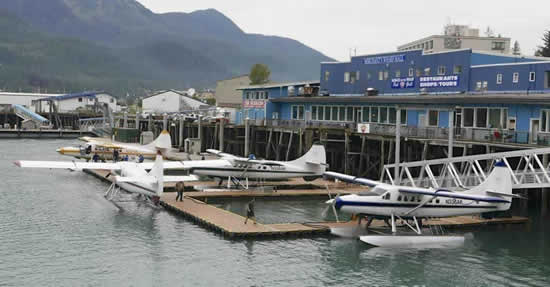 Wings Airways Terminal and the Hangar on the Wharf in Juneau