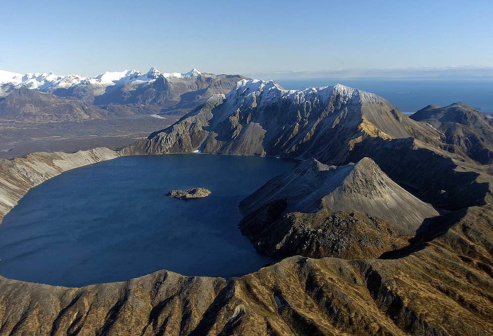 Lake Kaguyak Crater in Katmai National Park in Alaska