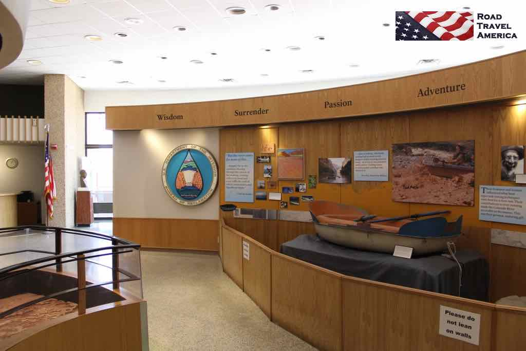 Some of the displays and kiosks inside the Carl Hayden Visitor Center