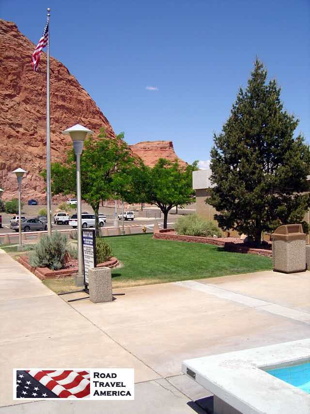 Parking area outside the Carl Hayden Visitor Center near Page, Arizona
