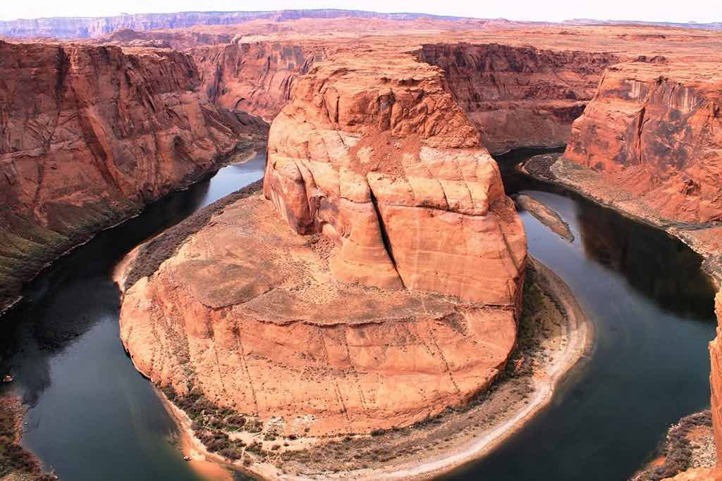 Spectacular view of Horseshoe Bend on the Colorado River