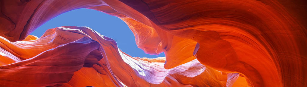 The intense colors of Antelope Canyon in northern Arizona near Page