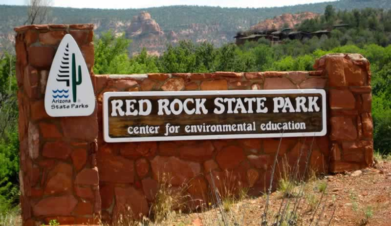 Entrance area to the popular Red Rock State Park ... Center for Environmental Education