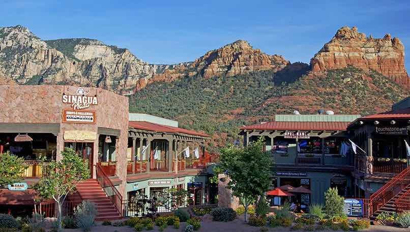 One of the many unique shopping ventues in Sedona