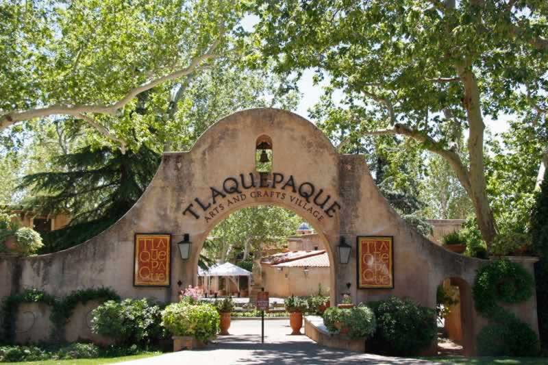 The entrance to the Tlaquepaque Arts and Crafts Village in Sedona