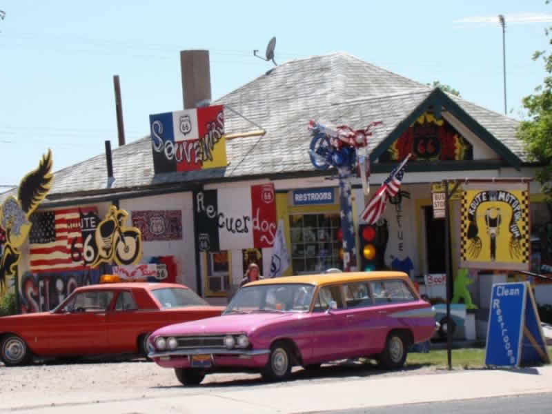 A shopping paradise on Historic Route 66 in Arizona