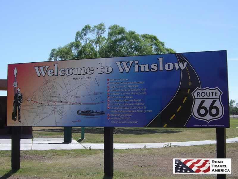 Welcome to Winslow, Arizona, and Historic Route 66
