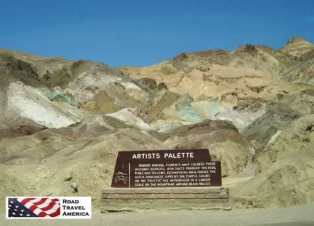Artists Palette in California's Death Valley National Park