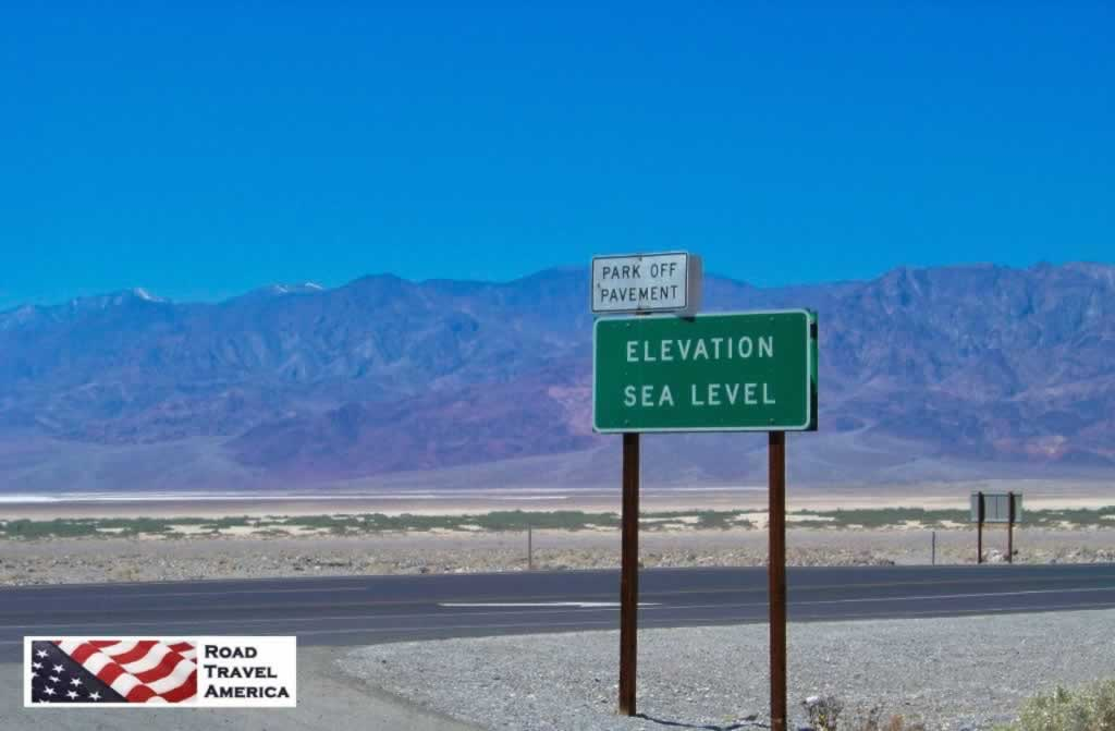 Death Valley National Park in California ... Elevation Sea Level