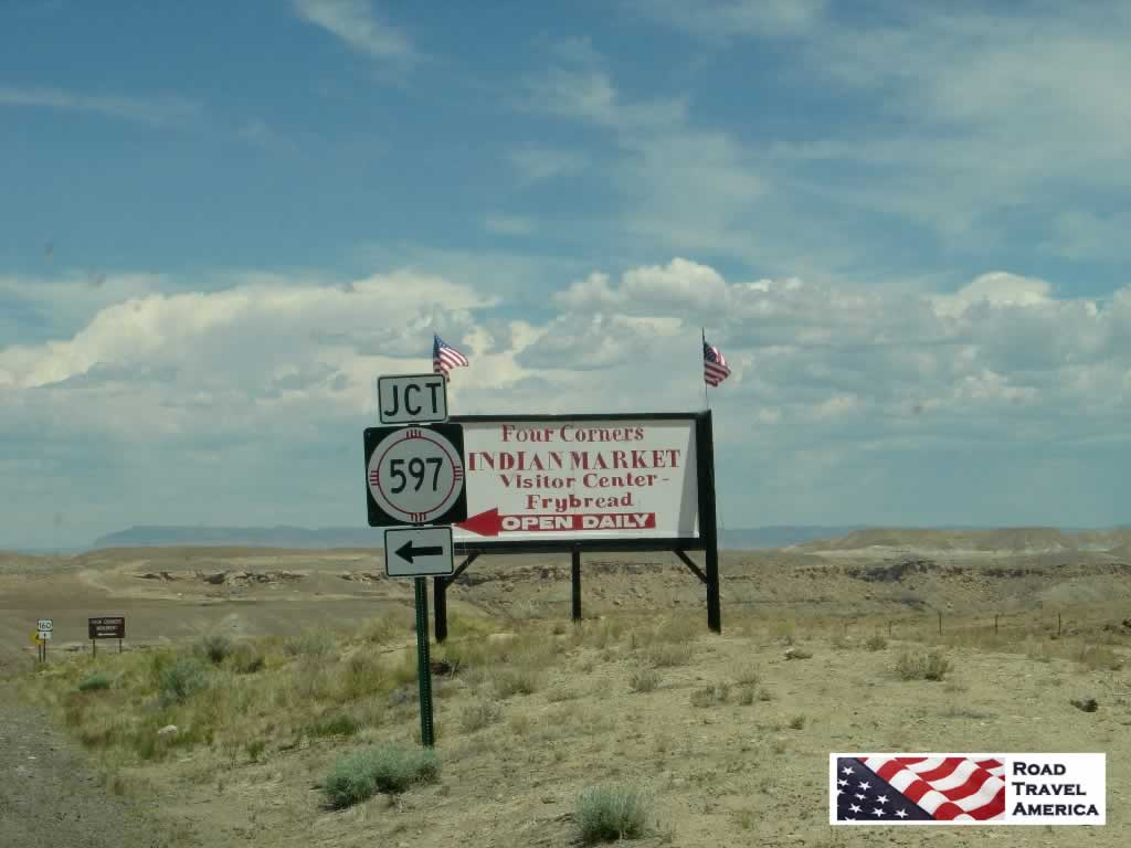 Access the Four Corners Monument via New Mexico Highway 597