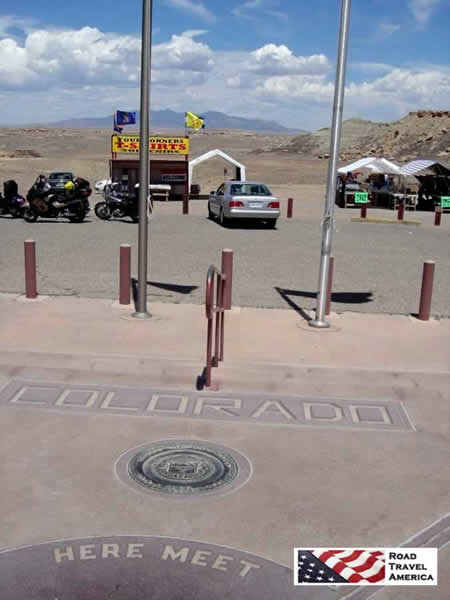 Four Corners Monument ... parking area near the actual meeting point of the four states