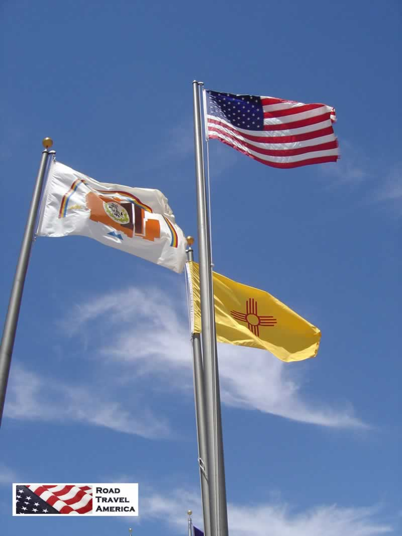 Flags flying at the Four Corners Monument