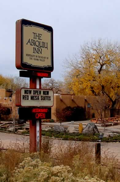 Staying outside Santa Fe? The Abiquiu Inn is about an hour to the north
