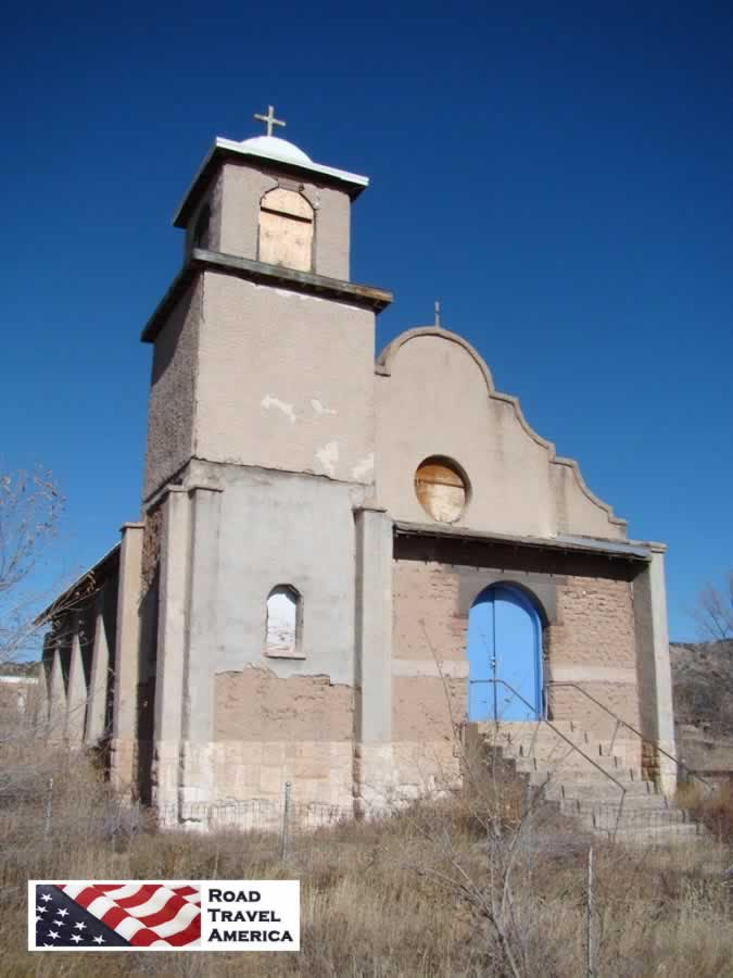 Abandoned church in Lamy, New Mexico