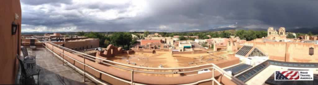 Panorama view of downtown Santa Fe, New Mexico