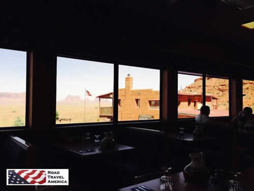 View of Monument Valley from Goulding's Restaurant