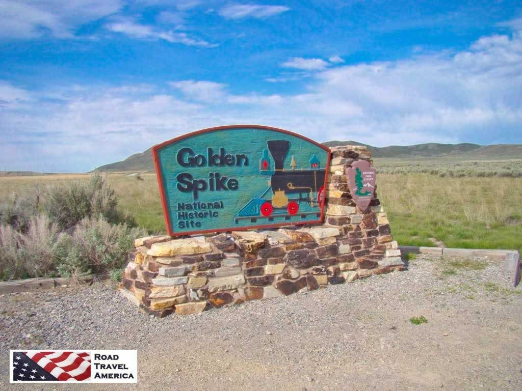 Entrance to Golden Spike National Historic Site in Utah
