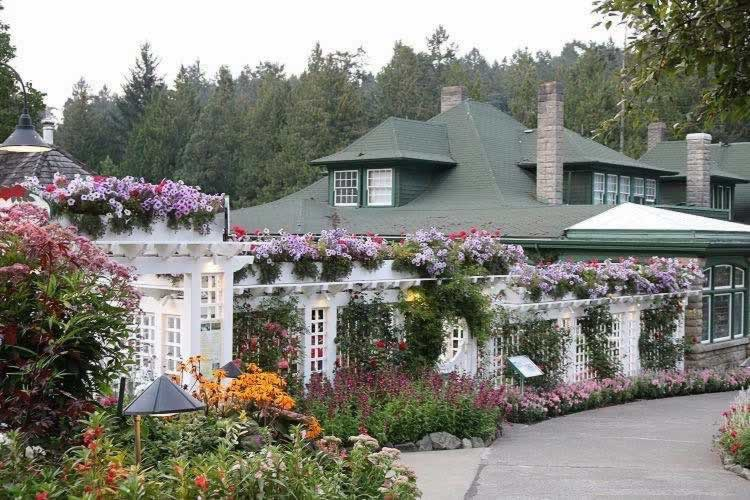 Scene at The Piazza at The Butchart Gardens in Victoria