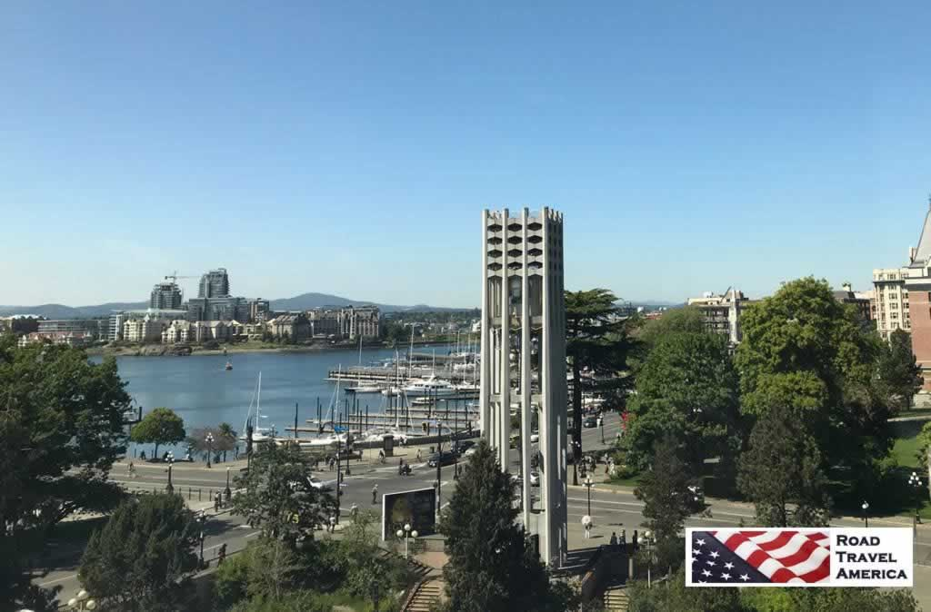 View of the Victoria waterfront from the Royal BC Museum